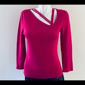 ⭐️3/$20⭐️.   Beechers Brook Fuchsia Sweater